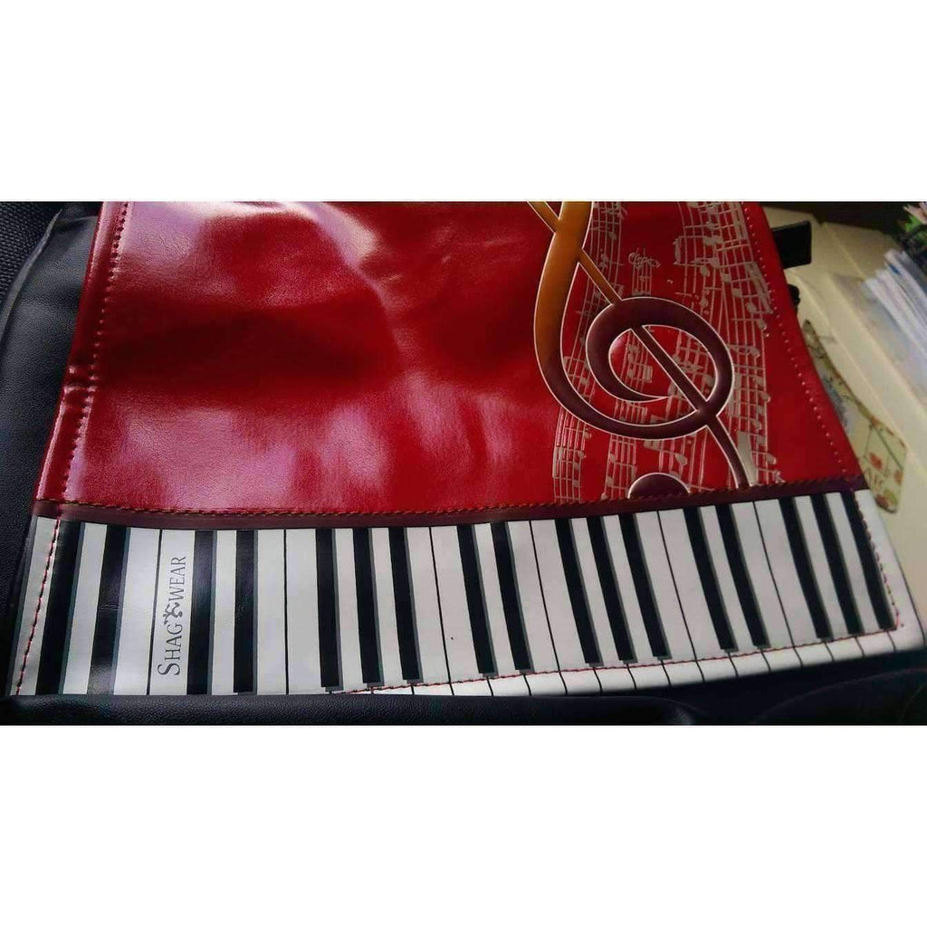vendor-unknown Products,Music Gifts,Mother's Day Special,Mother's Day Gifts,For Her ShagWear Red Keyboard Melody Cross Shoulder Bag