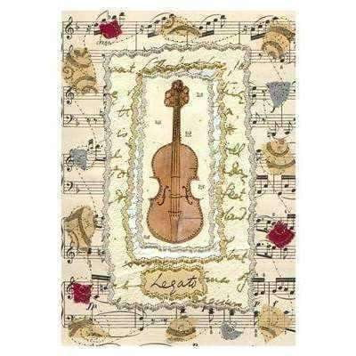 Music Bumblebees Products,Music Gifts,New Arrivals Music Themed Card - Violin
