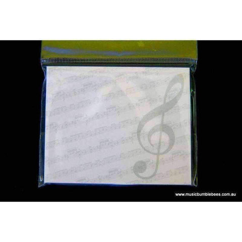Image of Music Bumblebees Products,Music Stationery,For Students,Mother's Day Special,For Teachers A) G Clef with scores Music Post-it Pad (40 Sheets) - Assorted Designs