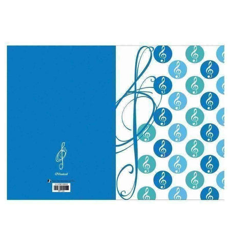 Music Bumblebees Products,Music Stationery,For Students,Mother's Day Special Letter File - G Clef Polka Dots - Assorted Colours