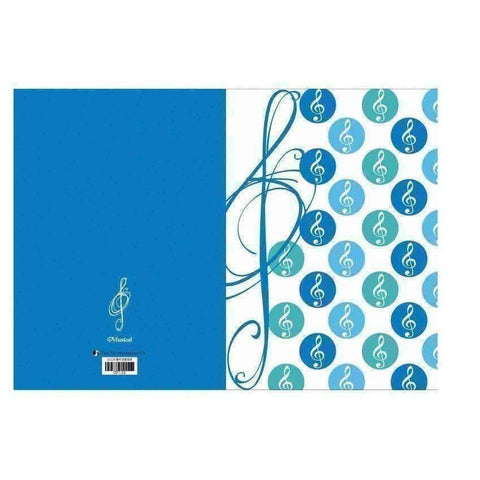 vendor-unknown Products,Music Stationery,Mother's Day Special Dual Insert Letter File - G Clef Polka Dots - Assorted Colours