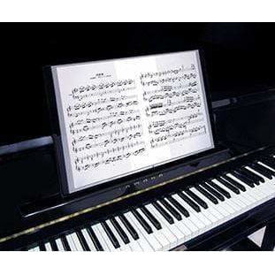 A3&A4 Combined Clear Display Folder (20 pockets) - Music Notes & Keyboard Black
