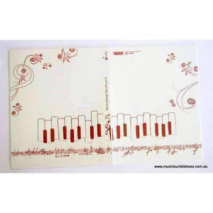 vendor-unknown Products,Music Stationery,Mother's Day Special,For Performers A4 Clear Display Folder (20 pockets) - Music Score White