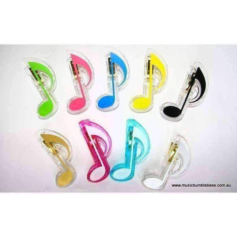 Image of Music Bumblebees Products,Music Stationery,Music Gifts,For Students Quaver Clip - Assorted Colours