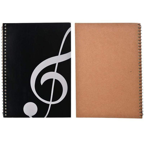 Music Bumblebees Products,Music Stationery,New Arrivals,For Teachers Large Music Themed Spiral Bound Notebook