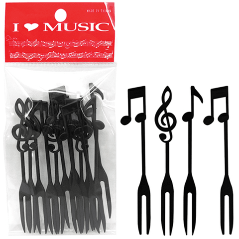 Music Bumblebees Spoon Music Notes Plastic Fork Set (Set of 12)