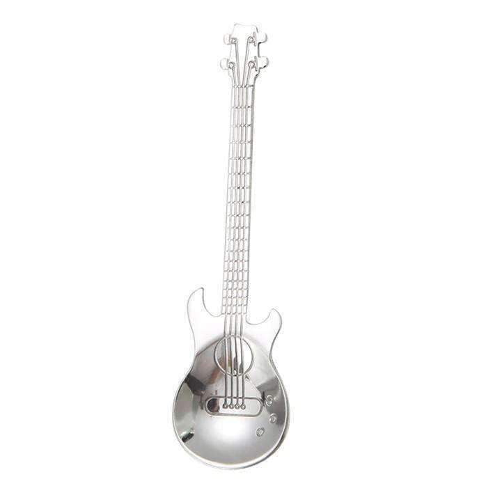 Music Themed Guitar Stainless Steel Spoon
