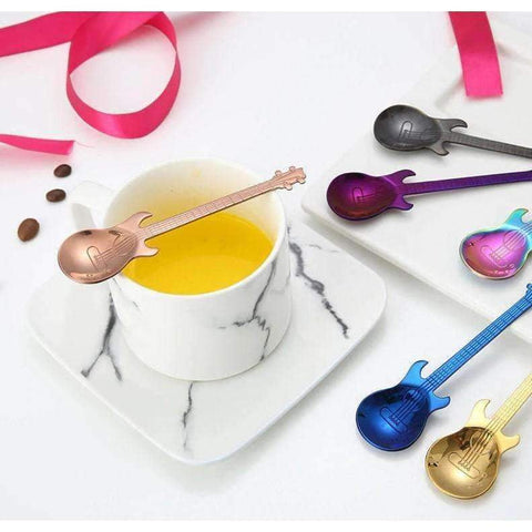 Image of Music Bumblebees Spoon Music Themed Guitar Stainless Steel Spoon