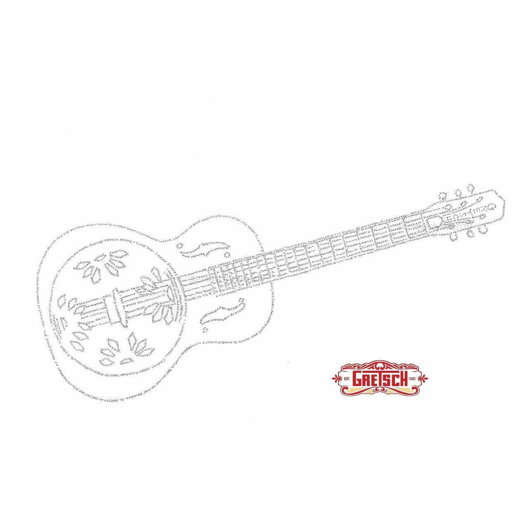 Seriously Wordy Wall Art Seriously Wordy Artwork - GRETSCH Resonator