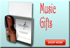 Music Gifts, Musical Gifts, Music Themed Gifts, Music Stationery, Music Instruments and Music Publication