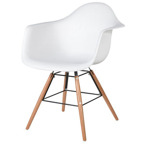 White Moulded Chair