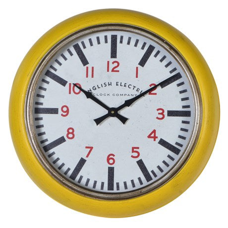 English Electric Clock | Yellow