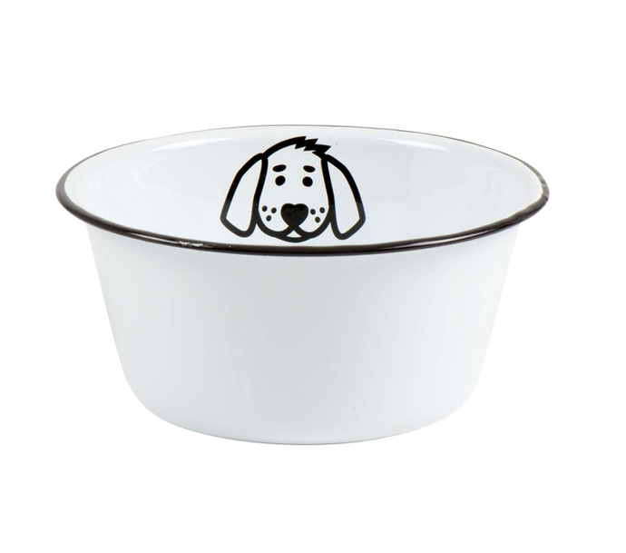 Enamel Dog Bowl