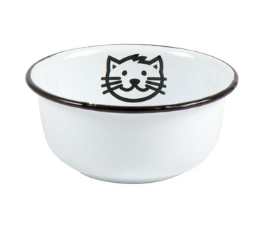 Enamel Cat Bowl