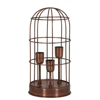 Triple Cage Light | Copper