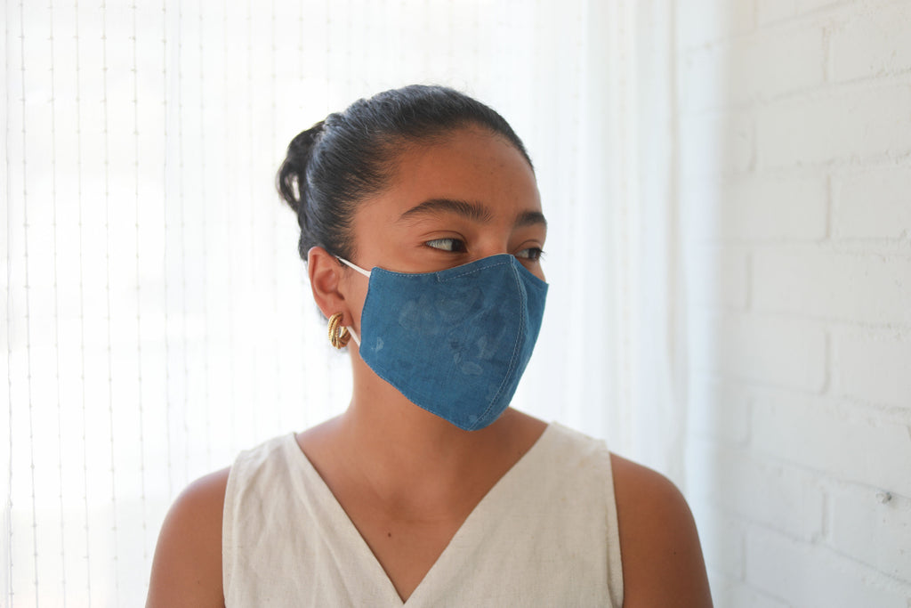 Face Mask - Indigo + Flax