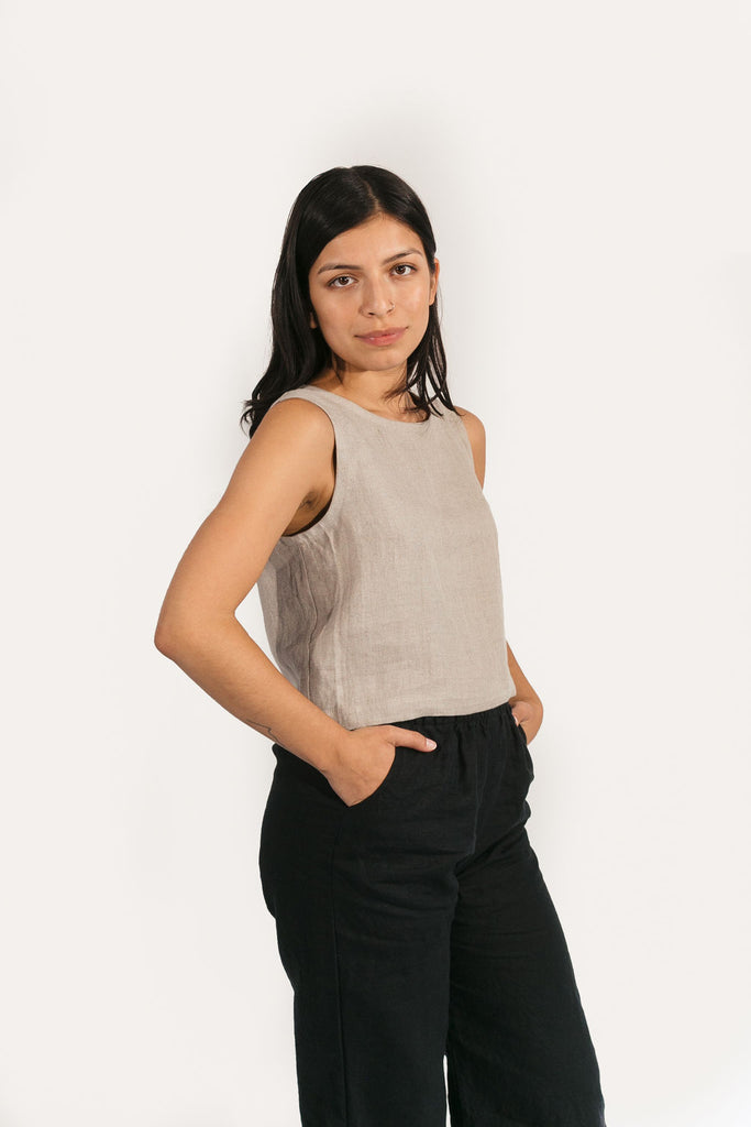Elspeth Tank in Linen
