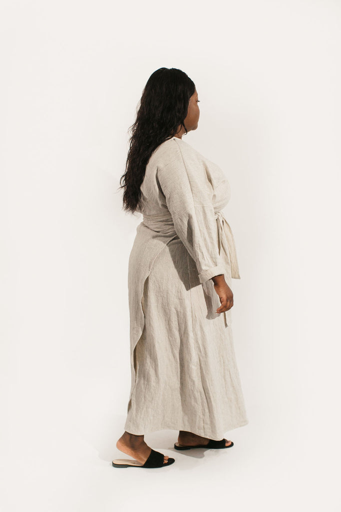 Long Sleeve Clara Dress in Cotton/Linen