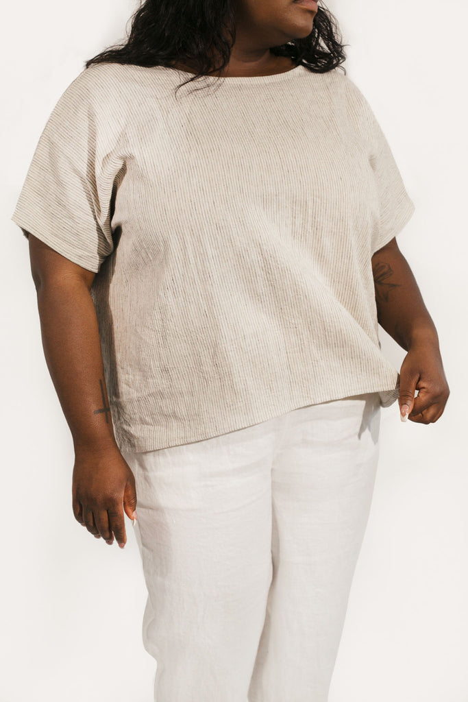 Krissy Tee in Cotton/Linen