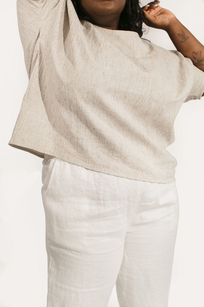 Harris Tapered Leg Pant in Linen