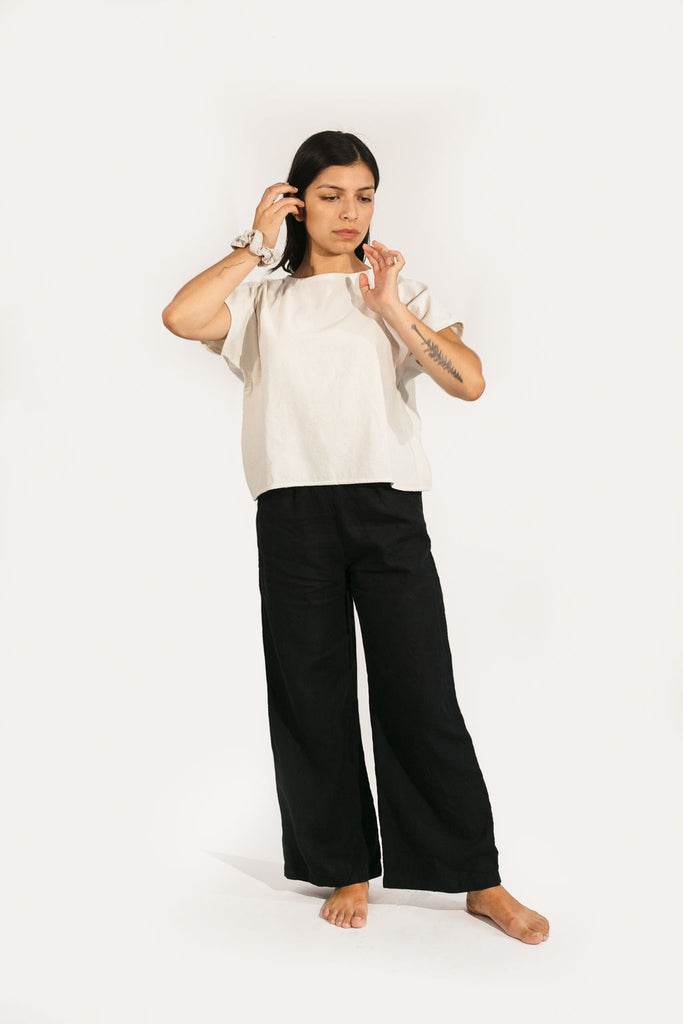 Harris Wide Leg Pant in Linen