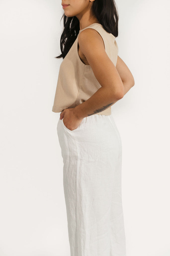 Elspeth Tank in Raw Silk
