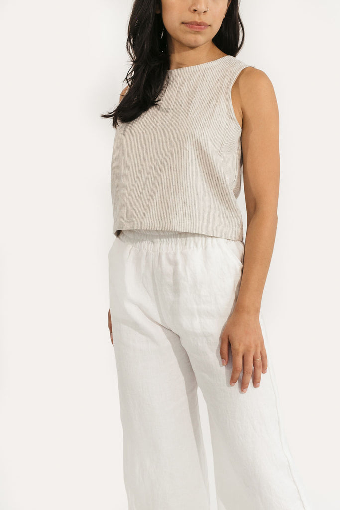Elspeth Tank in Cotton/Linen
