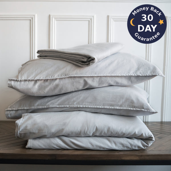 Stonewashed California Duvet Cover Set Stonewashed Cotton - Ginkova