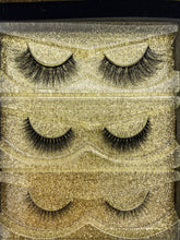 Load image into Gallery viewer, 3 styles eyelash set with diamond magnetic eyeliner and tweezers.
