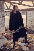 REFLECTIVE BLACK OVERSIZED KIMONO COAT - Noah Christian
