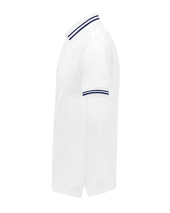 NC POLO CLASSIC FIT - WHITE/BLUE - Noah Christian Studio