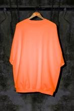 SAFETY ORANGE OVERSIZED SWEATER DRESS WITH EMBROIDERED LOGO - Noah Christian