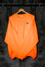 SAFETY ORANGE OVERSIZED SWEATER WITH EMBROIDERED LOGO - Noah Christian Studio