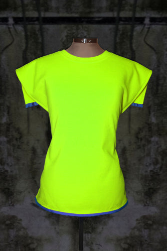 CHARTREUSE YELLOW OPEN BACK JUMPER PULLOVER WITHOUT SLEEVES - Noah Christian Studio