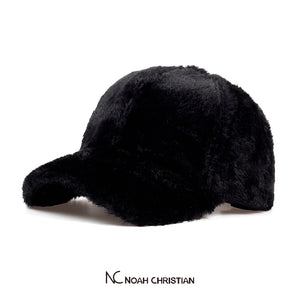 BLACK FAUX FUR BASE CAP - Noah Christian