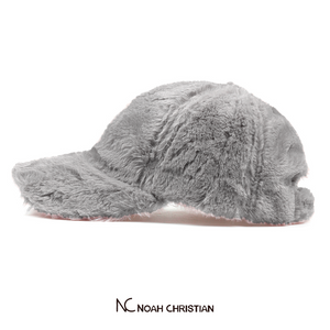 GREY FAUX FUR BASE CAP - Noah Christian