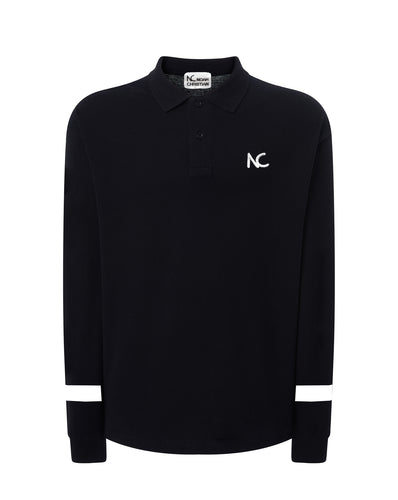 LIMITED EDITION - NC POLO CLASSIC FIT - LONG SLEEVE - BLACK/WHITE