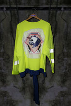 REFLECTIVE OVERSIZED SWEATER WITH EMBELLISHED COLOUR CHANGING SEQUIN & PRINT ON BACK - Noah Christian Studio