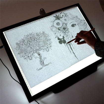 LED drawing boards, graphic tablets and printers