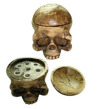 Hot!  INKHEAD   ,  cool skull  with 7 holes for ink cups - Magic Beans Ink