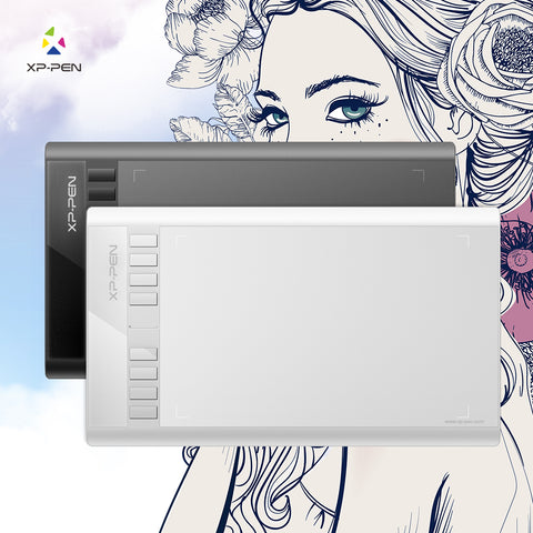 XP-Pen Star 03 Graphics Drawing Tablet with Battery-free PASSIVE Pen Digital Pen - Magic Beans Ink
