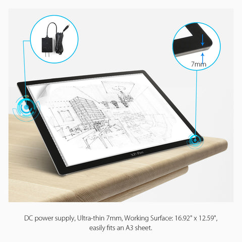 Dimmable 24 inch  LED tracing and drawing pad - Magic Beans Ink