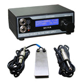 Tattoo power supply kit LCD digital + stainless steel foot pedal switch + clipcord - Magic Beans Ink