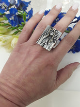 Load image into Gallery viewer, Virgin de guadalupe with 14k gold veil    ring - buy it now!  size 7.5     (rb7326)