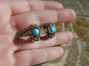 Turquoise Round Earrings