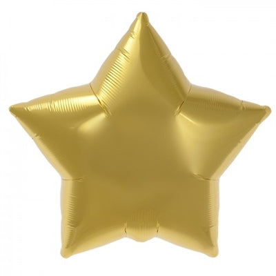 "22"" Five Point Star Gold Balloon"
