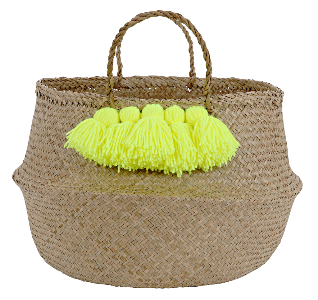 Tassel Storage Basket (Yellow)