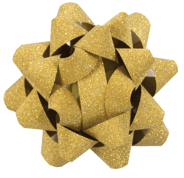 Festive Glitter Gold Star Bow