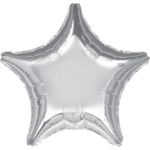 "19"" Star Silver Foil Balloon"