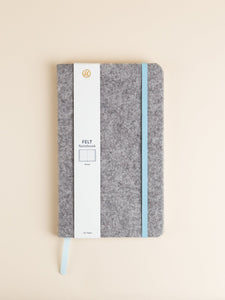 Grey Felt Notebook